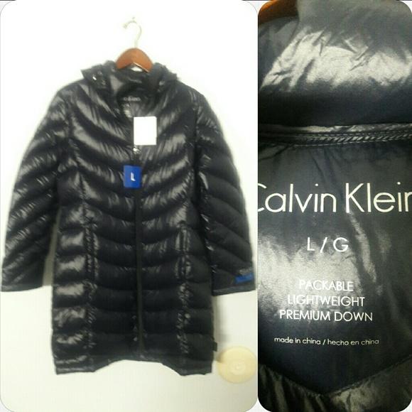 4291c5c08 Calvin Klein Lightweight Packable Down coat NWT Boutique
